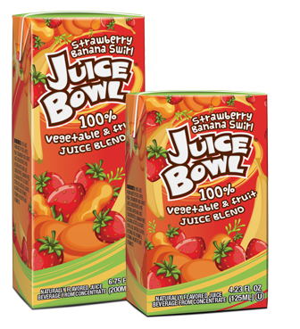 Juice bowl - Strawberry Banana Swirl